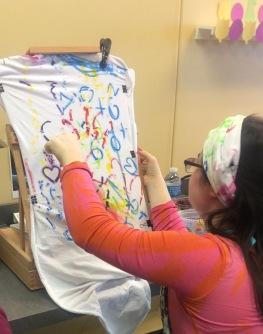 sarah fabric painting