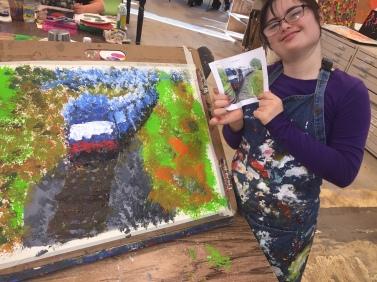 sarah train painting